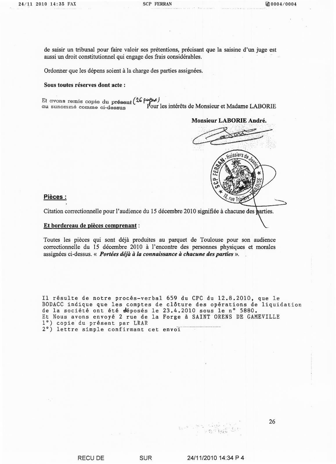 Assignation En Refere Pour Demande D Explulsion De Tous Les